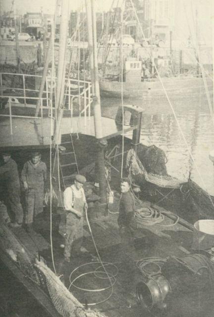 Aan boord van de Z.550 Zeemansmoed (bouwjaar 1953)