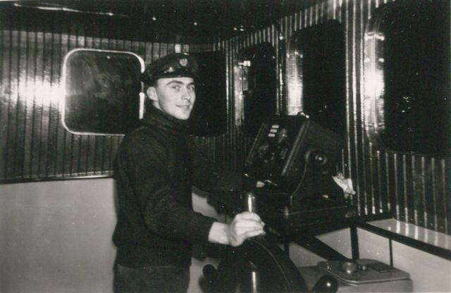 Andr� Van Torre op de brug van de Z.402 Atlantis (Bouwjaar 1963)