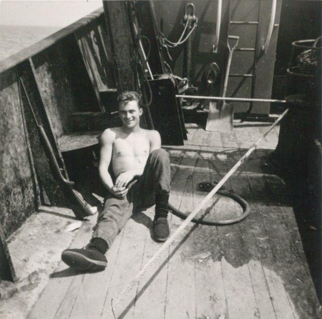 Andr� Van Torre op het dek van de Z.402 Atlantis (Bouwjaar 1963)