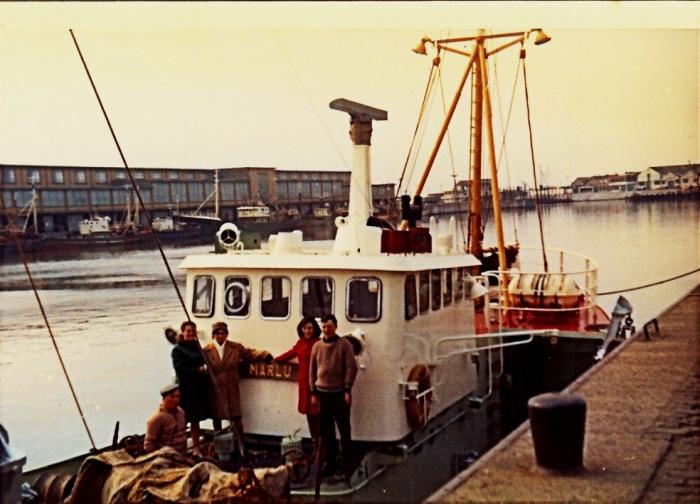 Bezoekers op de N.719 Marlu (bouwjaar 1968)