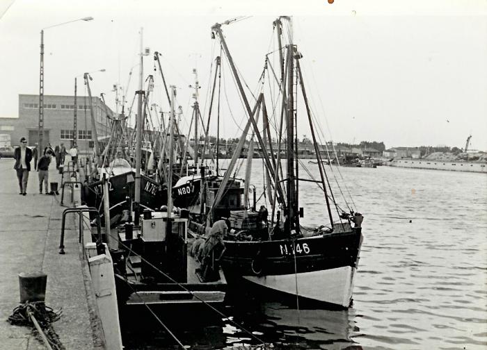 N.146 Georgiana (Bouwjaar 1942), N.807 (Bouwjaar 1943), N.782 en andere schepen in haven