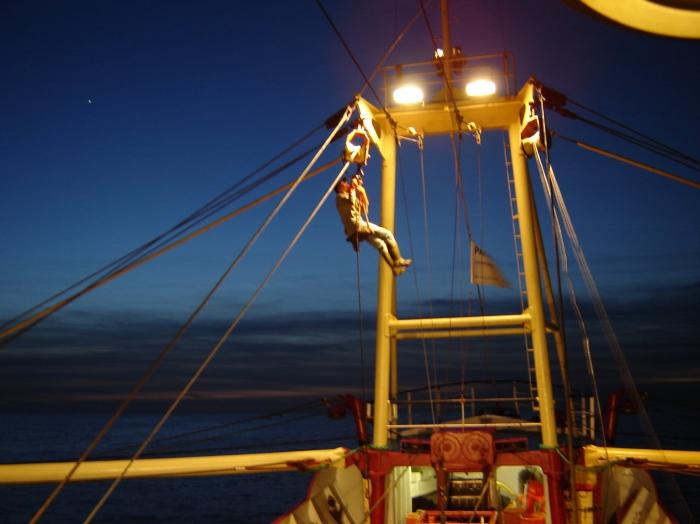 Klimmen aan boord