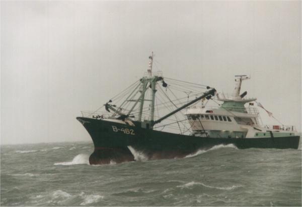 B.462 Vidar (bouwjaar 2000) tijdens storm