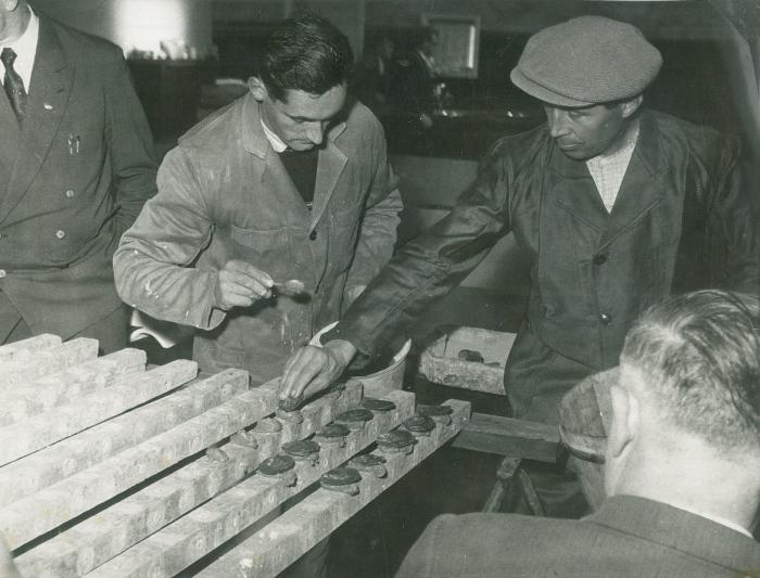 """Bezoek aan """"Halewyck & Cie"""" 17 oktober 1959"""