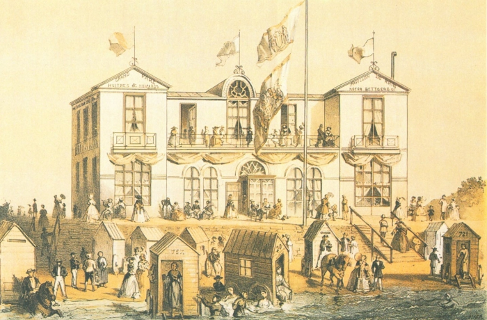 Tekening van het  &quot;Pavillon du Rhin&quot; 