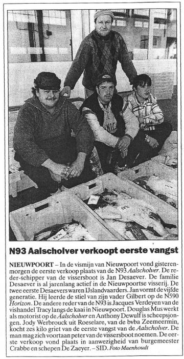 Eerste verkoop N.93 Aalscholver