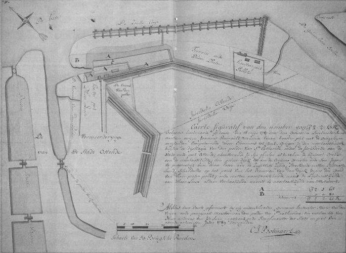 """Plan """"Clemmen"""", """"Pollet"""" en """"Clays & Cie"""", ca. 1789"""