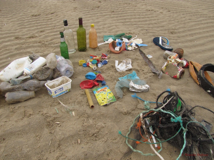 Beach rubbish 