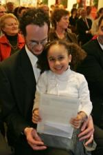 Winnaar met dochter