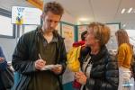Student restaurant De Brug: rector Anne De Paepe is talking to the press