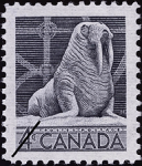 Canadian postage stamp (1954): Walrus