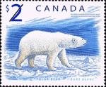 Canadian Postage Stamp (1998): Polar Bear