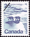 Canadian Postage Stamp (1972): Polar Bears in Canadian North
