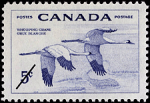 Canadian Postage Stamp (1955): Whooping Crane