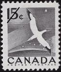 Canadian Postage Stamp (1954): Gannet, Morus bassanus