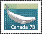 Canadian Postage Stamp (1990): beluga, author: National Archives of Canada