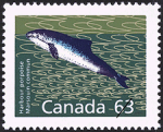 Canadian Postage Stamp (1990): Harbour porpoise