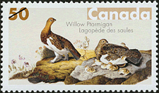 Canadian Postage Stamp (2005): Willow Ptarmigan