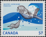 Canadian Postage Stamp (2010): Sea Otter, author: National Archives of Canada