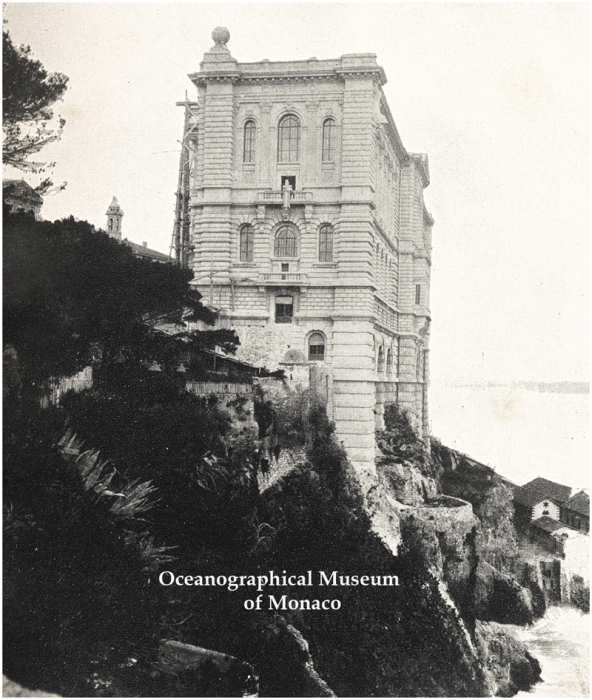 The Oceanographic Musuem in Monaco- 1909 - pre-inauguration
