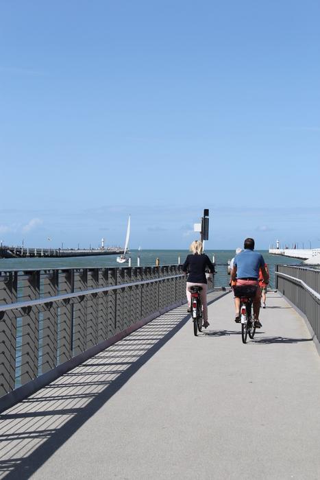fietsen op aanlegsteiger