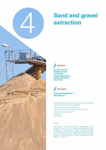 Sand and gravel extraction