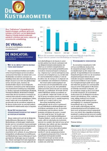 De kustbarometer: De indicator: de omvang van de Belgische recreatieve zeevissersvloot