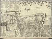 Table des cartes des Pays Bas et des frontieres de France, avec un recueil des plans des villes, sièges et batailles données entre les hauts allies et la FrancePlan de la ville d'Ostende