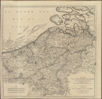 Caarte van t' Graafschap Vlaanderen opgestelt na verscheyde stukken op de plaatsen geteekent en door sterrekundige waarnemingen bevestigt = Carte du Comté de Flandre…