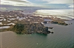 Air photo of the Krystianka & the icecap of King George Island