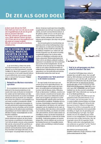 De zee als goed doe! Bescherming van unieke mariene soorten en hun leefgebieden in het zuiden van Chili