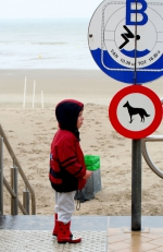 Child at a sign
