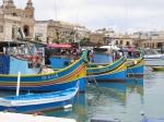 Traditionele vissersboten Marsaxlokk