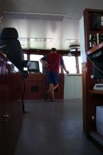 De bestuurscabine van de Zeeleeuw. (19.07.07)