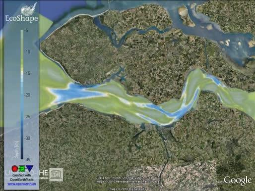 Simulatiemodel van de morfologische evolutie van het Westerschelde-estuarium