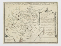 Copie van een Lant-Caerte der gelegentheit van Vlaanderen en Zeelant ten tyde van Guido van Dampier Grave van Vlaanderen Anno MCCLXXIV.
