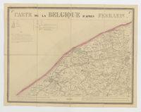 Carte de la Belgique d'après Ferraris, augmentée des plans des six villes principales et de l'indication des routes, canaux et autres traveaux exécutés depuis 1777 jusqu'en 1831. 42 feuilles. I - Bruges