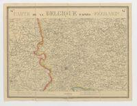 Carte de la Belgique d'après Ferraris, augmentée des plans des six villes principales et de l'indication des routes, canaux et autres traveaux exécutés depuis 1777 jusqu'en 1831. 42 feuilles. I - Courtrai