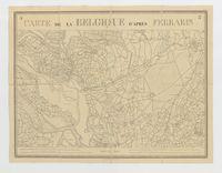 Carte de la Belgique d'après Ferraris, augmentée des plans des six villes principales et de l'indication des routes, canaux et autres traveaux exécutés depuis 1777 jusqu'en 1831. 42 feuilles. I - Berg-Op-Zoom