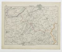Carte topographique de la Belgique, dressée sous la direction de Ph.Vander Maelen, fondateur de l'établissement géographique de Bruwelles, à l'échelle de 1 à 20.000, en 250 feuilles. - Termonde