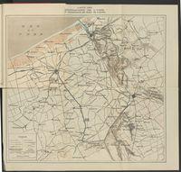 Carte des inondations de l'Yser et Wateringue du Nord de Furnes