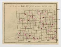 Carte de la Belgique d'après Ferraris, augmentée des plans des six villes principales et de l'indication des routes, canaux et autres traveaux exécutés depuis 1777 jusqu'en 1831. 42 feuilles. II - Middelbourg