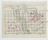 Carte topographique de la Belgique, dressée sous la direction de Ph.Vander Maelen, fondateur de l'établissement géographique de Bruwelles, à l'échelle de 1 à 20.000, en 250 feuilles. - Santvliet