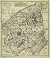 Nouvelle carte du département de la Lys divisée en 39 cantons.  Kaart Leiedepartement.