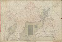 Fishing chart - North coast of Scotland, Little Minch to Fair Isle and Peterhead. Kaart van visserijgronden ten noorden van Schotland.