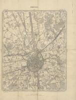Bruges - Topografische kaart van Brugge en omgeving op schaal 1/20 000