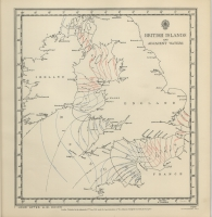 Atlas of tides and tidal streams - British Islands and adjacent waters. 1 hour after H.W. Dover