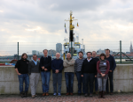 WoRMS/LifeWatch World Register of marine Cave Species editor workshop op de InnovOcean site, Oostende, België (2016.02.22-25). Van links naar rechts: Alejandro Martínez García (MEG-ISE), Fernando Álvarez Noguera (UNAM), William F. Humphreys (Western Australian Museum), Thomas Iliffe (Texas A&M University), Damià Jaume (IMEDEA), Vasilis Gerovasileiou (HCMR), Nicolas Bailly (HCMR), Geoff Boxshall (Natural Hostory Museum London), Stefanie Dekeyzer en Wim Decock of the WoRMS data management team (VLIZ).