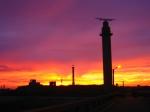 Haven Oostende bij zonsopgang