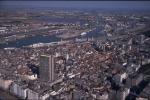 Luchtfoto Spuikom en stadskern Oostende